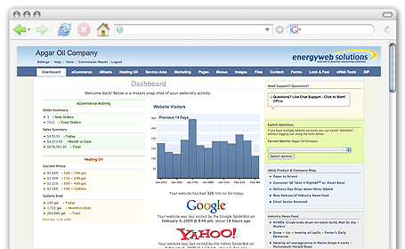 EnergyWeb Dashboard Screen Shot